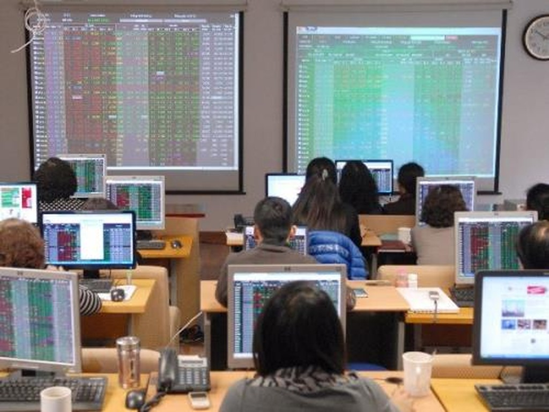 Chứng khoán ngày 14/3: Nhiều mã vốn hóa lớn suy yếu. Ảnh: TTXVN