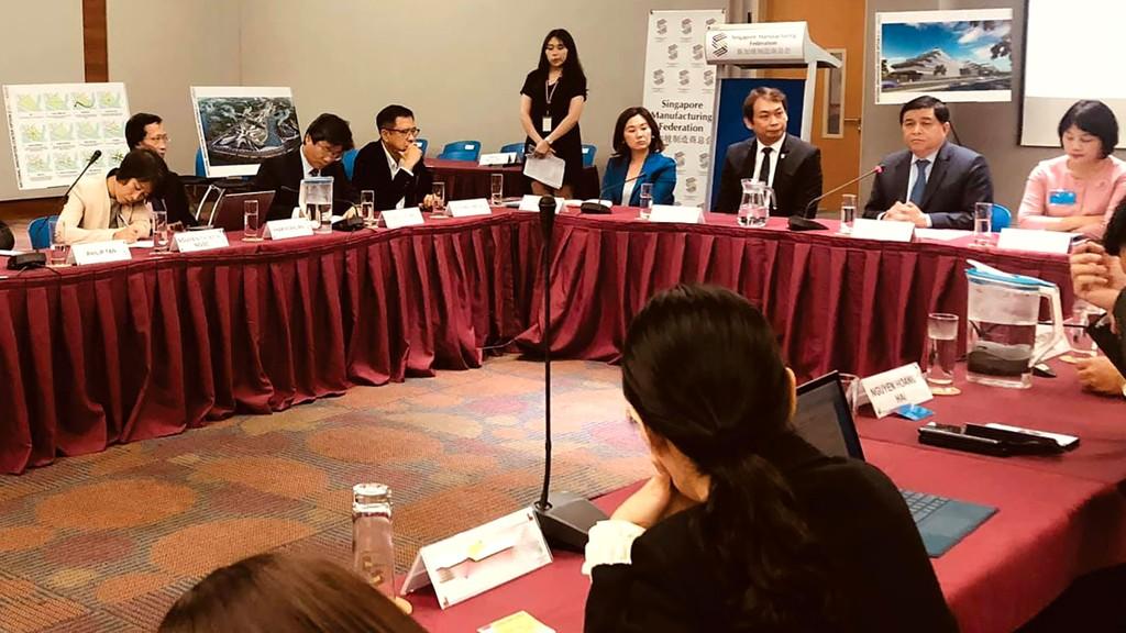 Trung tâm Đổi mới sáng tạo quốc gia được Bộ trưởng Nguyễn Chí Dũng giới thiệu trong chuyến làm việc mới đây tại Singapore. Ảnh: Thùy Trâm