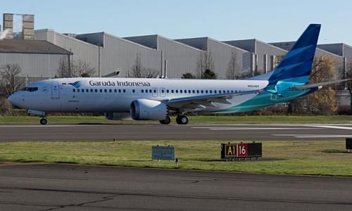Máy bay 737 Max 8 đầu tiên của Garuada Indonesia. Ảnh:Brandon Farris