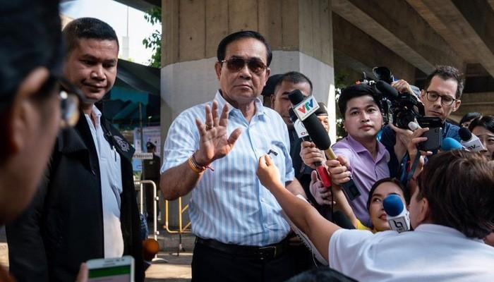 Thủ tướng Thái Lan Prayuth Chan-OCha sau khi bỏ phiếu trong cuộc bầu cử ngày 24/3 - Ảnh: Bloomberg.