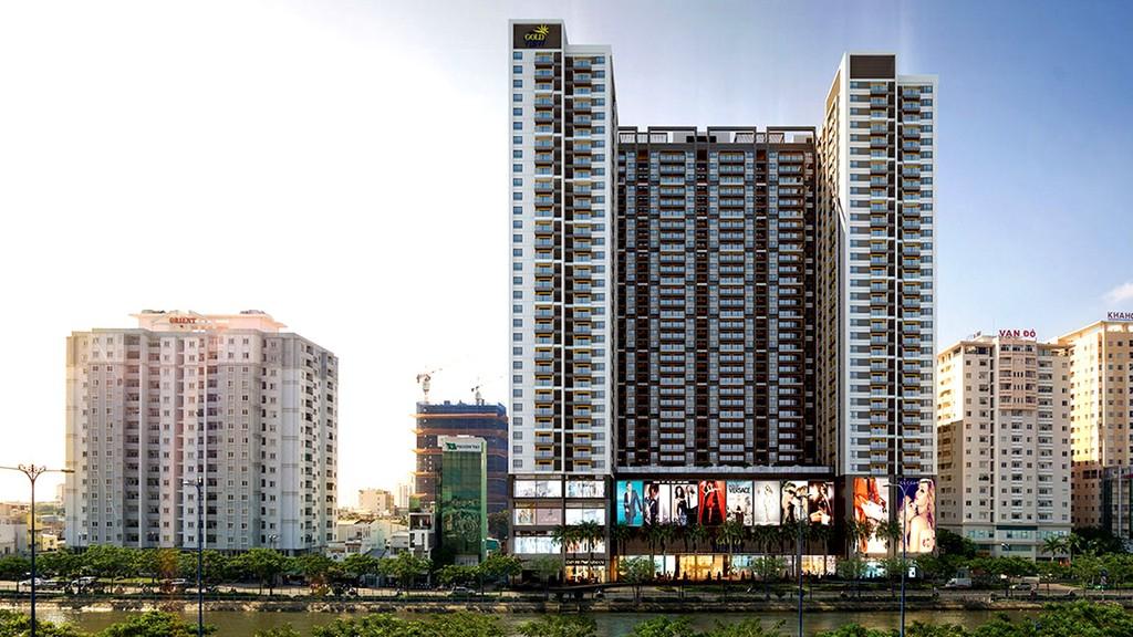 Công ty CP May - Diêm Sài Gòn là chủ đầu tư Dự án The GoldView, được xây dựng trên khu đất trụ sở Công ty rộng hơn 2,3 ha tại 346 Bến Vân Đồn, TP.HCM. Ảnh: Minh Khuê