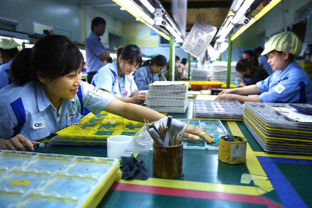 Bộ KH&ĐT sẽ nghiên cứu các biện pháp, cơ chế khuyến khích các doanh nghiệp có vốn đầu tư nước ngoài kết nối với doanh nghiệp nội địa. Ảnh: Lê Tiên
