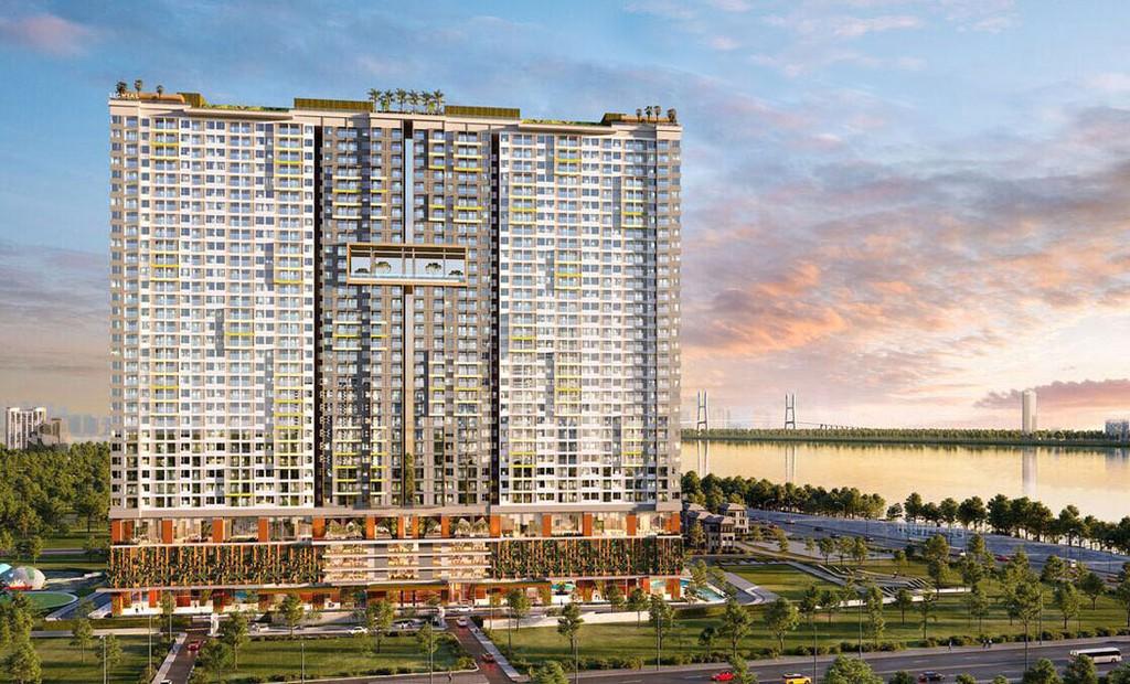 Dự án Signial nằm trên đường Hoàng Quốc Việt, Quận 7, TP.HCM với mức giá chỉ từ 1 tỷ đồng/căn. Ảnh: Lê Tiên