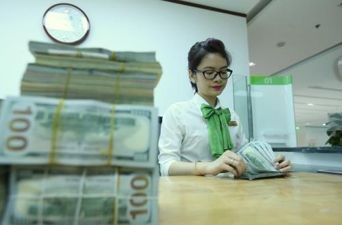 Tỷ giá USD hôm nay 22/4 giảm 2 đồng so với cuối tuần hôm qua. Ảnh minh họa: TTXVN