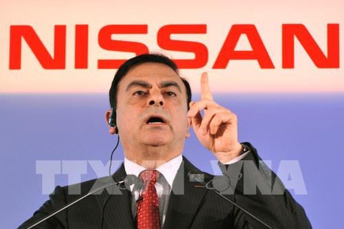 Ông Carlos Ghosn, khi giữ chức Chủ tịch Nissan, phát biểu trong cuộc họp báo tại Yokohama, Nhật Bản, ngày 12/5/2011. Ảnh: AFP/ TTXVN