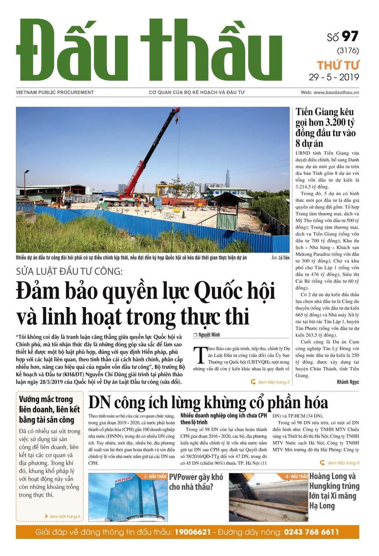 Báo Đấu thầu số 97 ra ngày 29/5/2019