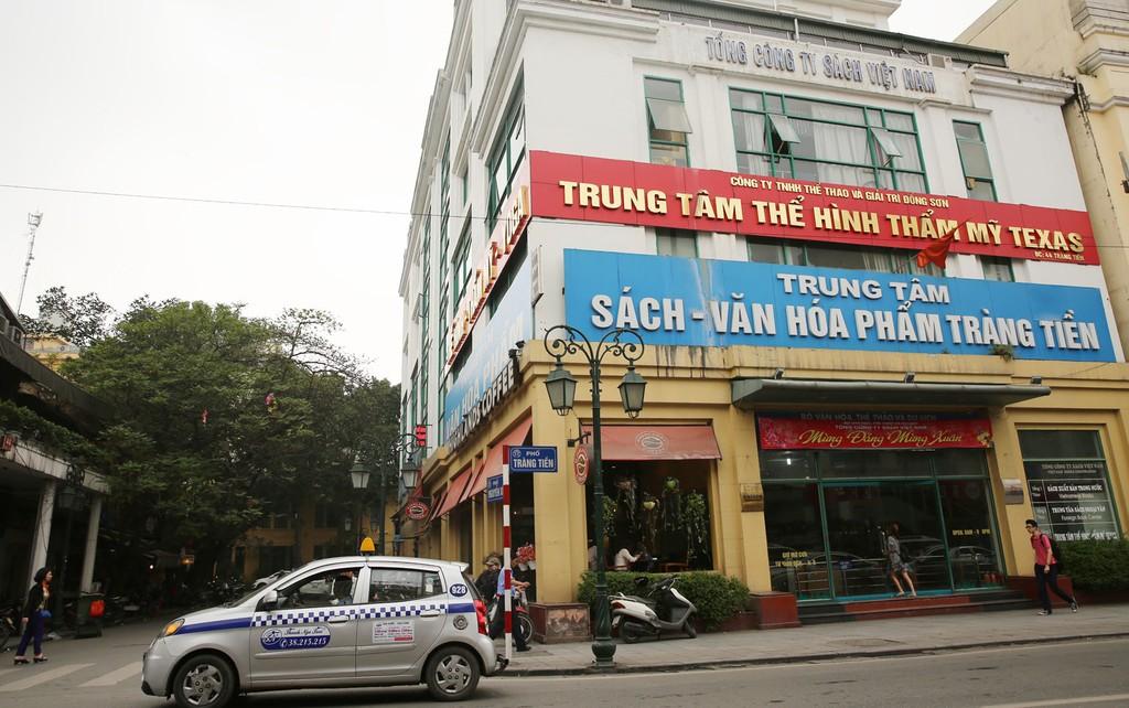 Công ty CP Sách Việt Nam sở hữu nhiều khu đất tại trung tâm quận Hoàn Kiếm (Hà Nội). Ảnh: Lê Tiên