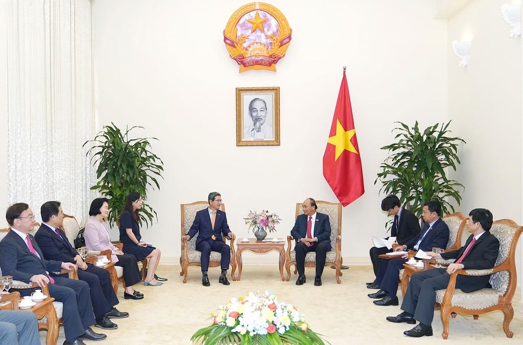 Thủ tướng Nguyễn Xuân Phúc khẳng định, Việt Nam luôn coi trọng thúc đẩy quan hệ hợp tác sâu rộng với Hàn Quốc. Ảnh: Hiếu Nguyễn