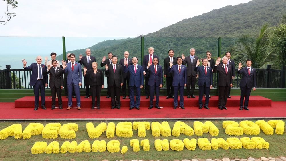 Lãnh đạo 21 nền kinh tế châu Á - Thái Bình Dương nhóm họp Tuần lễ Cấp cao APEC tại Đà Nẵng vào tháng 11/2017. Ảnh: Nhàn Sáng