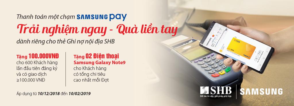 SHB hợp tác với Samsung