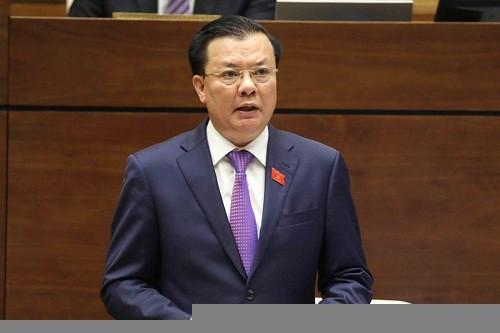 Bộ trưởng Bộ Tài chính Đinh Tiến Dũng. Ảnh: Internet