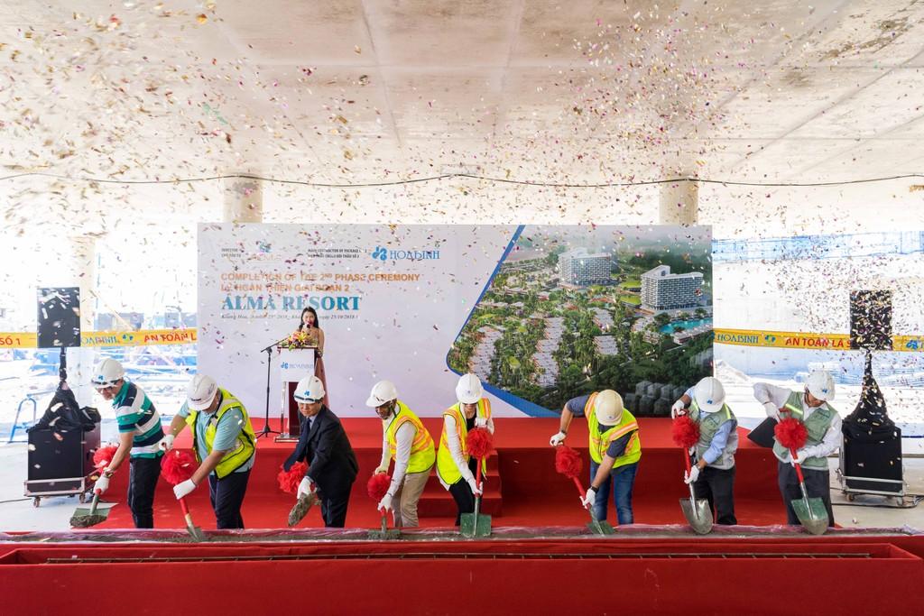 Lễ đóng nắp hầm dự án khu nghỉ dưỡng ALMA