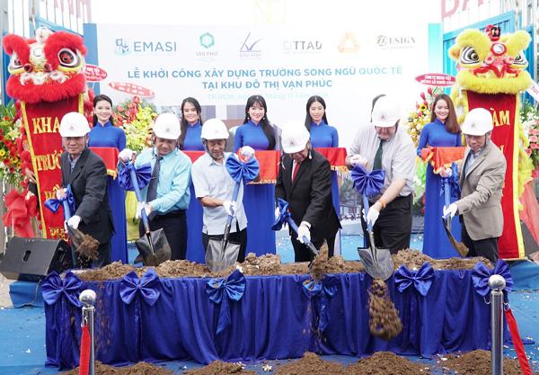 Lễ khởi công xây dựng Trường song ngữ quốc tế Vạn Phúc.