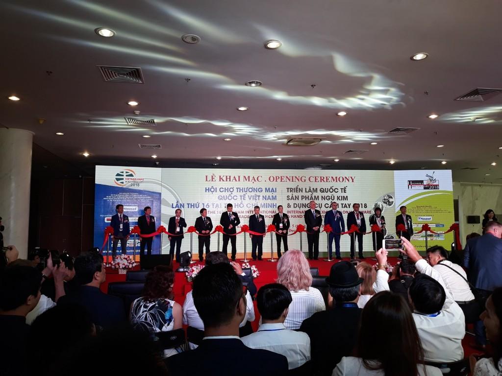 Vietnam Expo 2018 diễn ra đồng thời với Triển lãm quốc tế Sản phẩm ngũ kim và dụng cụ cầm tay