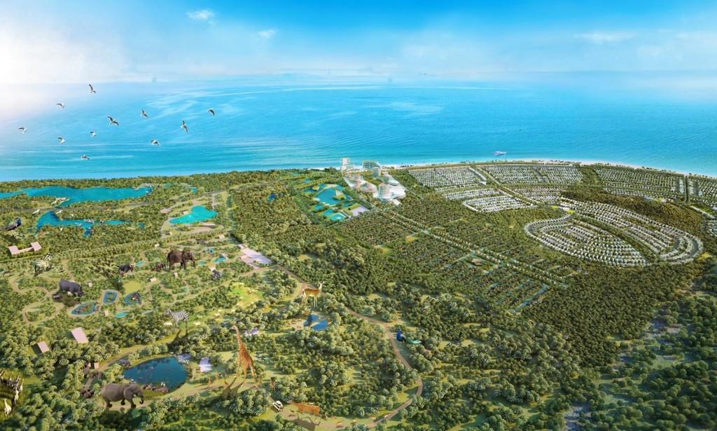 Phối cảnh quy hoạch tổng thể Safari Hồ Tràm. (Ảnh: Novaland)