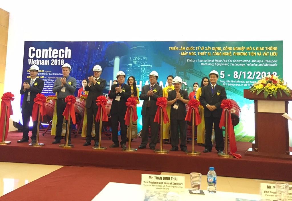 Lễ khai mạc Contech VietNam 2018 diễn ra ngày 5/12/2018.