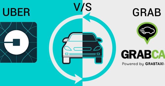 Thương vụ Grab mua lại Uber có nhiều dấu hiệu vi phạm Luật Cạnh tranh. (Ảnh Internet)