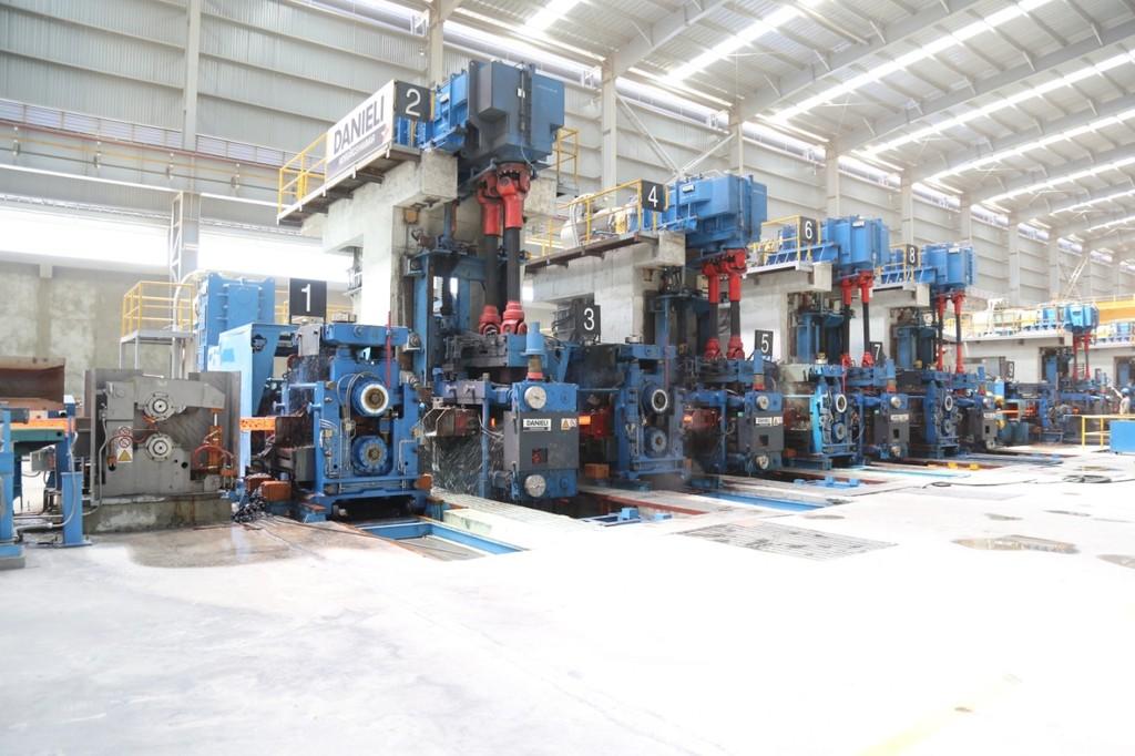 Tháng 1/2019, Nhà máy cán thép tại Khu liên hợp gang thép Hòa Phát Dung Quất đã đóng góp sản lượng 42.700 tấn