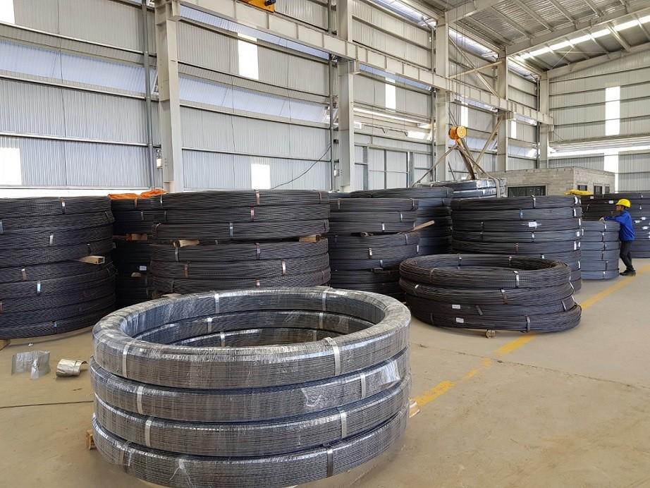 Dây chuyền thép dự ứng lực giai đoạn 1 đi vào hoạt động dự kiến sẽ cung cấp ra thị trường 40.000 tấn sản phẩm/năm (Ảnh: HP)