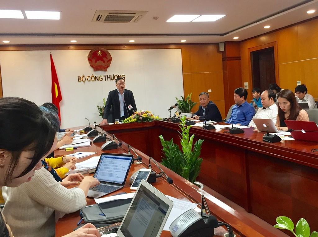 Cuộc họp báo thông tin điều chỉnh giá điện diễn ra chiều ngày 20/3/2019, tại Bộ Công Thương
