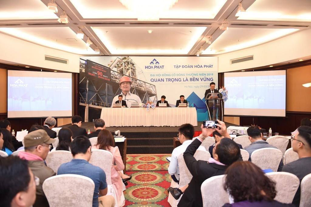 Đại hội đồng cổ đông thường niên 2019 của Hòa Phát diễn ra ngày 29/3/2019