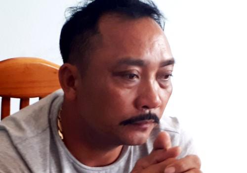 """""""Ông trùm"""" gỗ lậu Phan Hữu Phượng lúc bị bắt"""