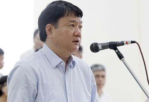 Ông Đinh La Thăng bị toà sơ thẩm tuyên phạt 13 năm tù, bồi thường 30 tỷ đồng. Ảnh: TTXVN