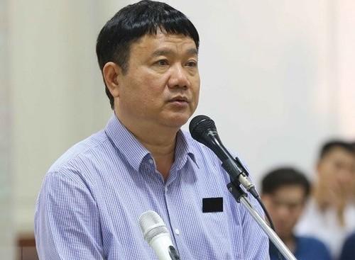 Bị cáo Đinh La Thăng tại phiên phúc thẩm. Ảnh: TTXVN.