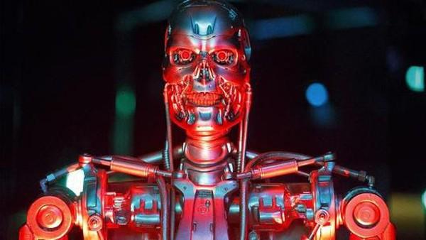 Một robot sử dụng cho bộ phim Kẻ hủy diệt 4 được trưng bày tại Bảo tàng Khoa học ở London, Anh - Ảnh: Getty/CNBC.
