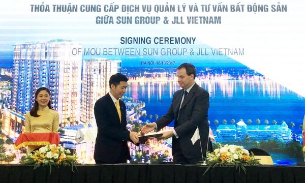 Tập đoàn Sun Group chính thức ký hợp tác với Tập đoàn Jones Lang LaSalle Incorporated.