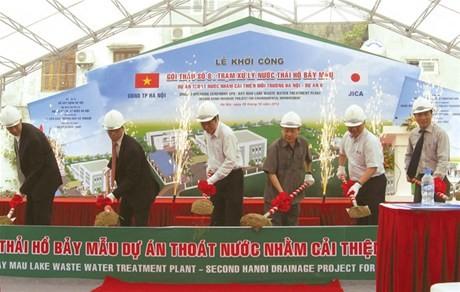 Khởi công xây dựng trạm  xử lý nước thải hồ Bảy Mẫu