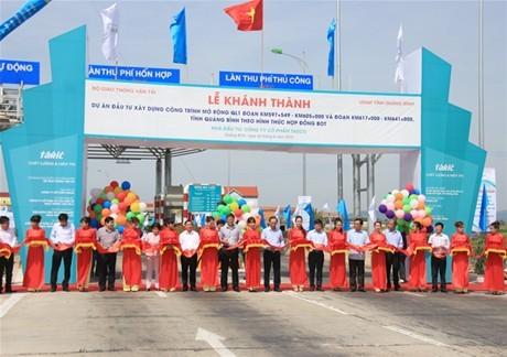 Đoạn Quốc lộ 1 qua Quảng Bình  hoàn thành sớm, tiết kiệm lớn