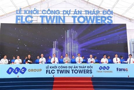 Khởi công tòa tháp đôi FLC Twin Towers (Hà Nội)