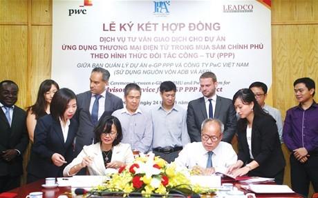 Ký kết hợp đồng tư vấn giao dịch  cho dự án e-GP đầu tư theo hình thức PPP
