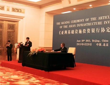 Việt Nam tham gia Ngân hàng  Đầu tư kết cấu hạ tầng châu Á
