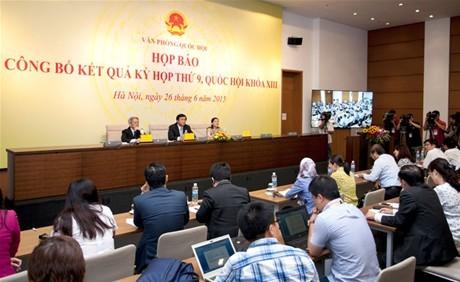 Quốc hội đã cơ bản hoàn thiện hệ thống  pháp luật về tổ chức bộ máy nhà nước