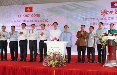 Đầu tư hơn 520 triệu USD  vào khai thác, chế biến muối mỏ Kali tại Lào
