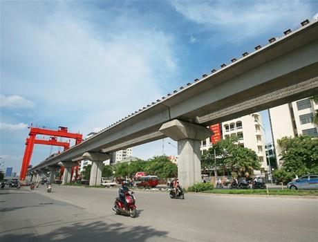 Chạy thử tuyến đường sắt Cát Linh - Hà Đông vào cuối tháng 9/2016