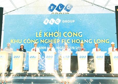 Khu công nghiệp FLC Hoàng Long  cam kết hoàn thành đúng tiến độ