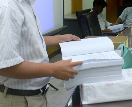 Tiếp tục mẫu hóa hồ sơ đấu thầu