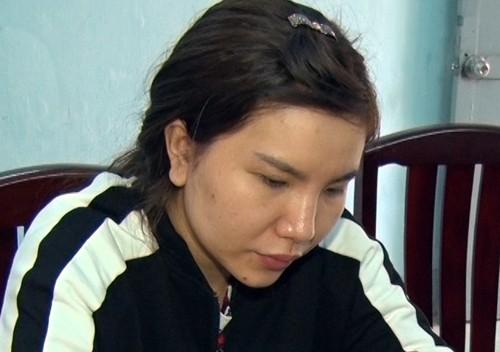 Trần Thị Hồng Diễm tại cơ quan điều tra.