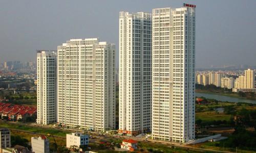 Một dự án nhà ở cao tầng tại TP HCM.