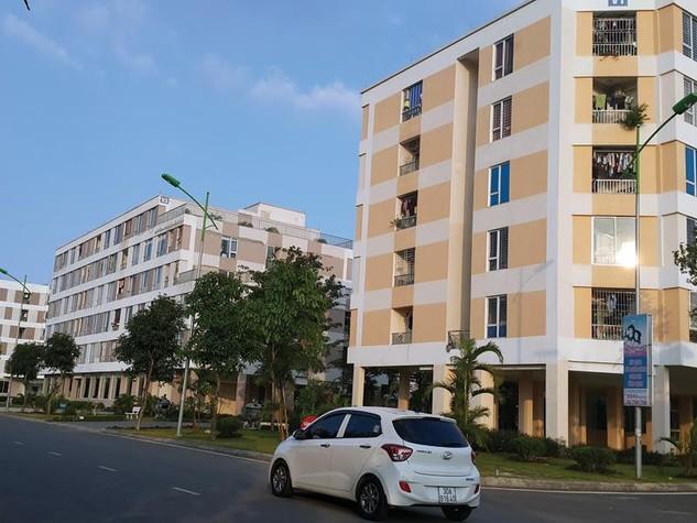 Khu nhà ở xã hội Đặng Xá (Gia Lâm, Hà Nội) được trang bị hệ thống tiện ích hạ tầng khá đồng bộ. Ảnh: Đức Thanh