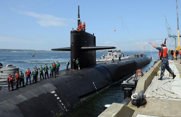 Tàu ngầm hạt nhân USS Michigan của Mỹ (Ảnh: Hải quân Mỹ)