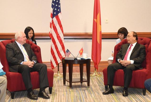 Thủ tướng tiếp Bộ trưởng Nông nghiệp Hoa Kỳ Sonny Perdue. Ảnh: VGP/Quang Hiếu