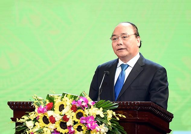 """Thủ tướng phát động cuộc vận động """"Xây dựng văn hóa doanh nghiệp Việt Nam"""". Ảnh VGP/Quang Hiếu"""