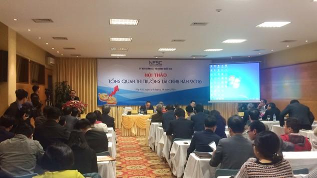 Hội thảo Tổng quan thị trường tài chính 2016      Ảnh: Cao Dung