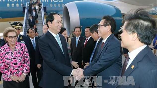 Chủ tịch nước Trần Đai Quang dự Hội nghị Cấp cao APEC lần thứ 24, tại Peru (Ảnh: TTXVN)