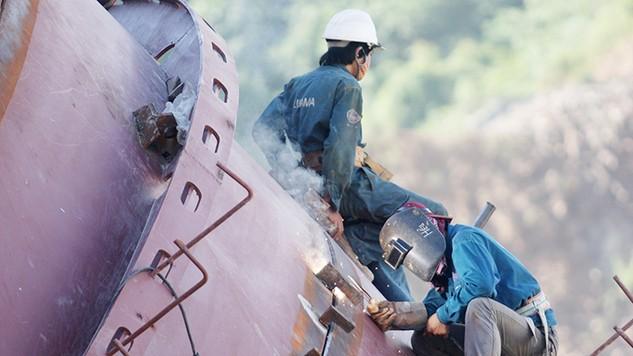 Lilama 69-1 khởi công gói thầu kết cấu thép xuất khẩu sang Lào