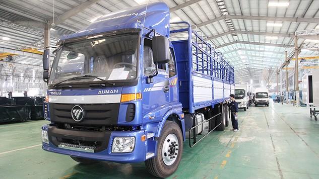 Công ty CP Ô tô Trường Hải đạt Thương hiệu quốc gia 2016 với sản phẩm xe du lịch, xe buýt, xe tải các loại...  Ảnh: Tường Lâm